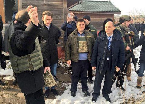 Себастьян Курц с Павлом Климкиным на Донбассе