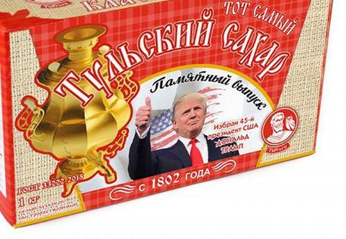 Цукор з зображенням Дональда Трампа