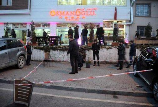 Место стрельбы в Стамбуле
