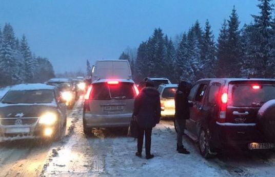 Транспортный коллапс на Закарпатье