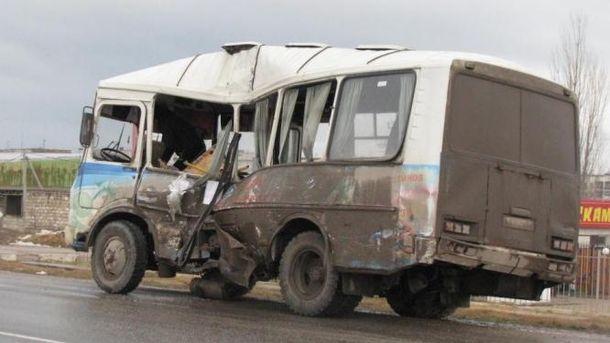 Пассажирский автобус попал в ДТП в Крыму