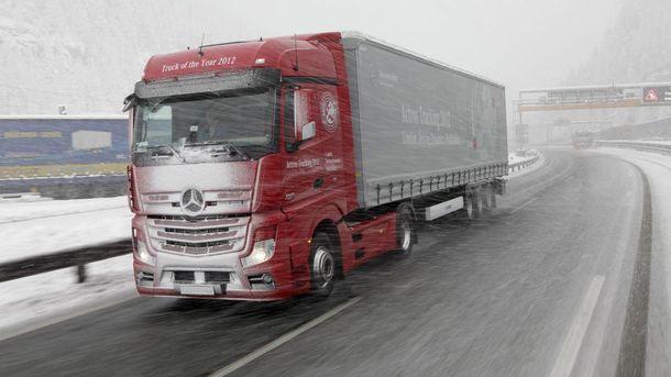 Рух вантажівок обмежено
