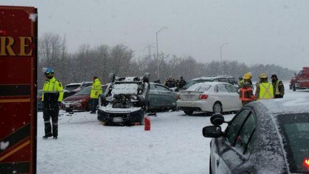 Масштабная авария возле Торонто