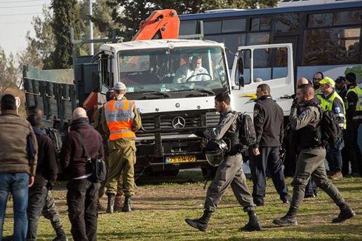 Место теракта в Иерусалиме