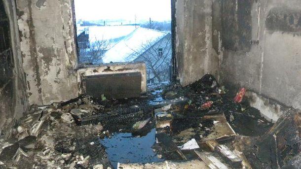 Квартира после взрыва