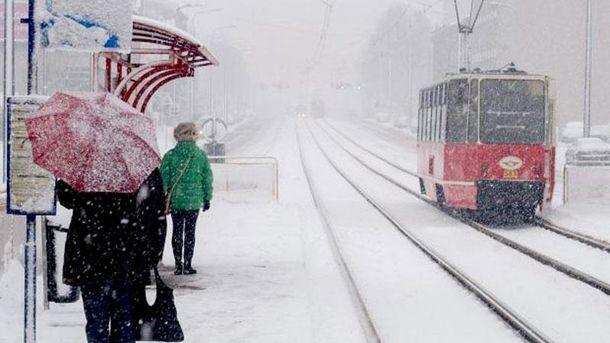 Снігопад у Європі