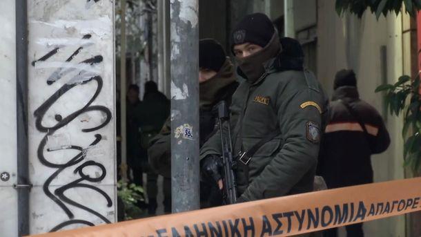 Обстрел автобуса в Афинах