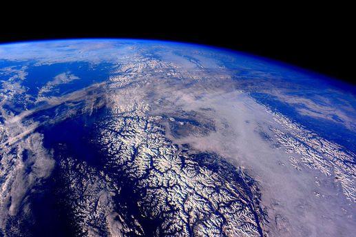 Горы из космоса