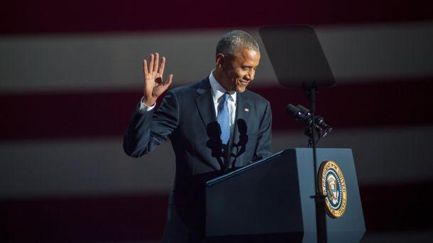Барак Обама произносит прощальную речь