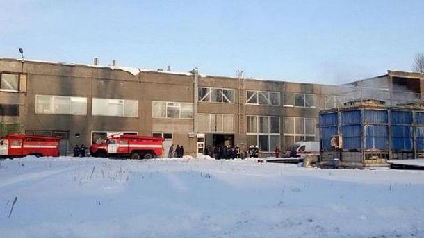 На заводе произошел взрыв