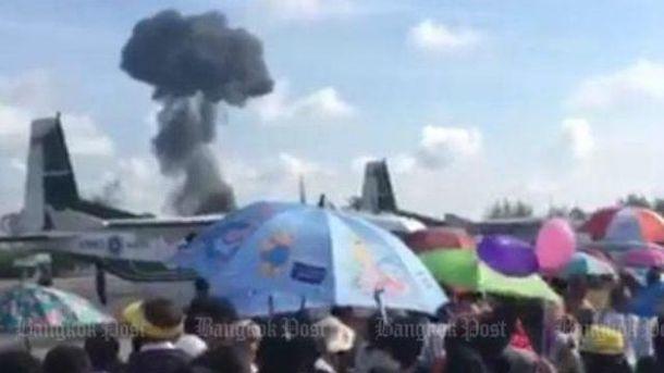 Во время авиашоу в Таиланде разбился истребитель