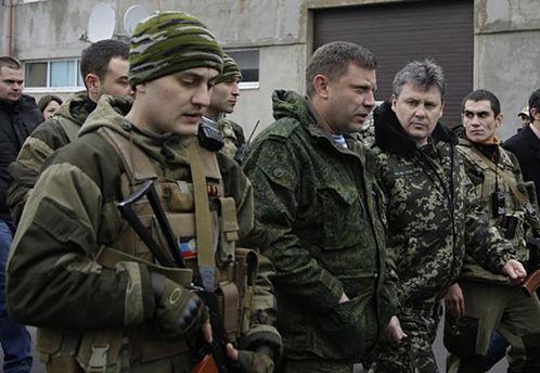 Александр Захарченко с боевиками