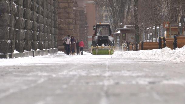 Прибирання вулиць у Києві