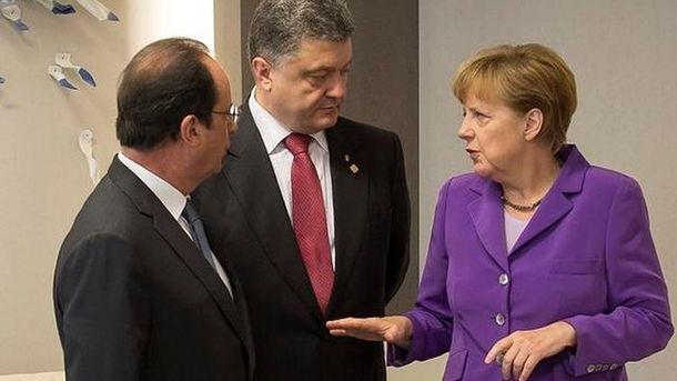 Порошенко, Меркель та Олланд