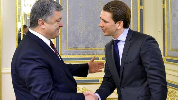 Петро Порошенко і Себастіан Курц
