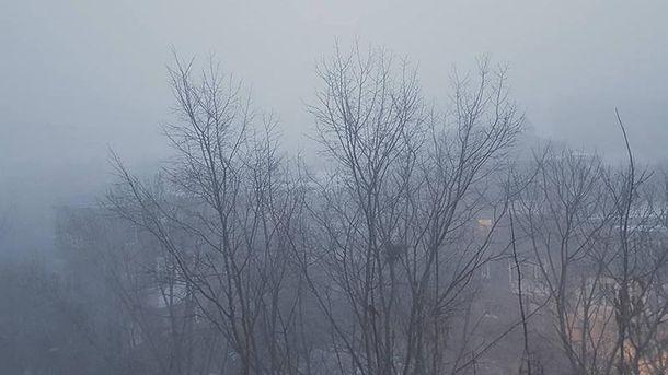 В Киеве туман