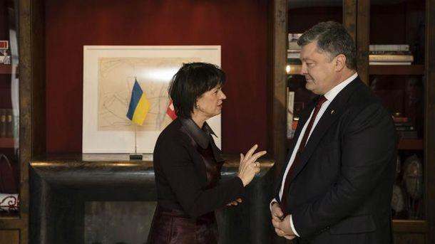 Порошенко встретился с президентом Швейцарии