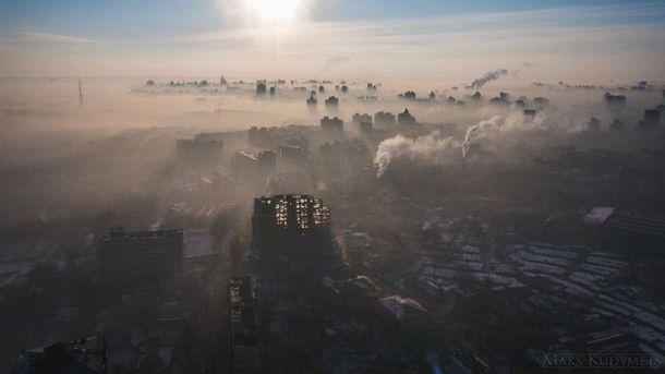 Киевлян напугал смог