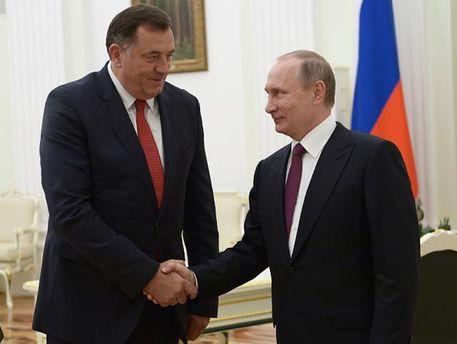 Мілорад Додік з Володимиром Путіним