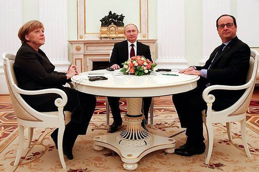 Меркель Путін та Олланд