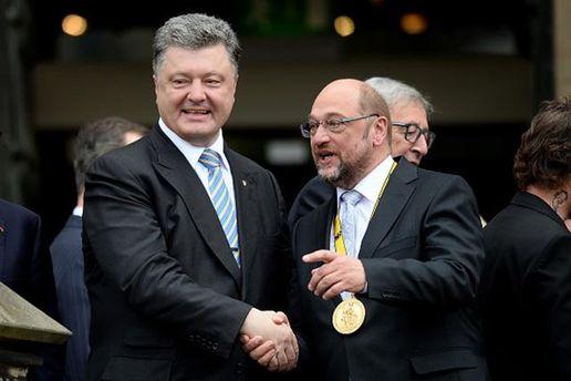 Петр Порошенко и Мартин Шульц