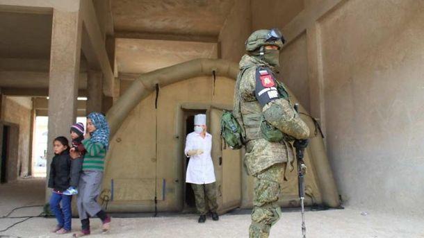 Российский солдат в Сирии
