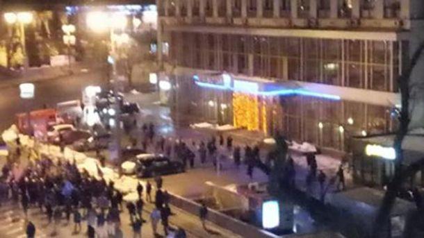 Столкновение в Киеве