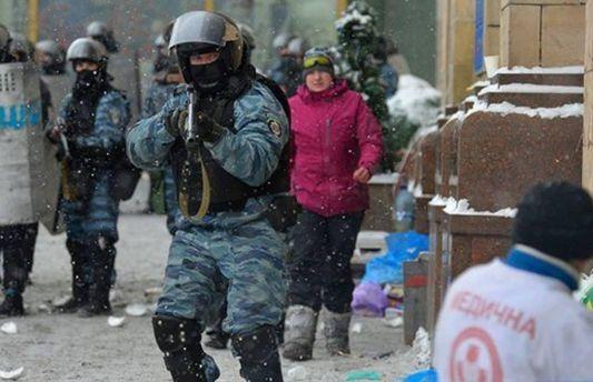 Савченко во время события Евромайдана