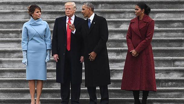 Барак Обама и Дональд Трамп во время инаугурации последнего