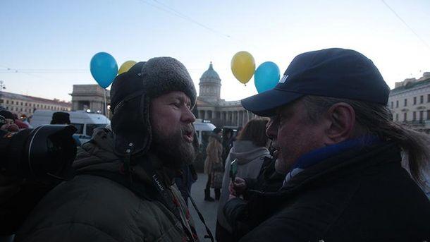 Акция в России против войны на Донбассе