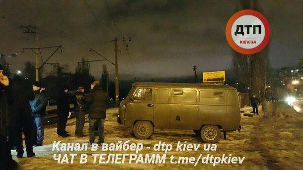 Место аварии в Киеве