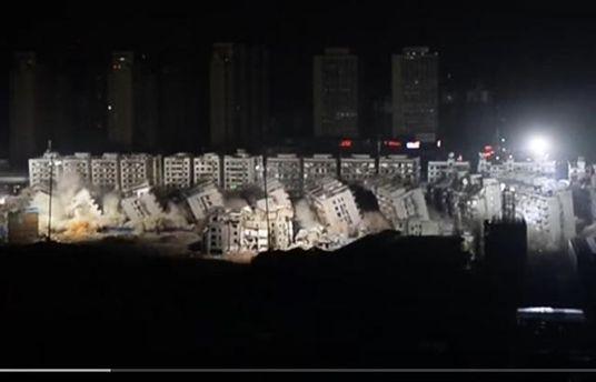 Подрыв домов в Китае