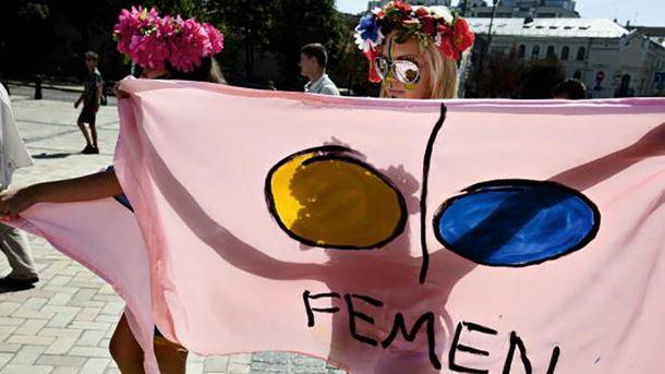 Акция Femen в Киеве