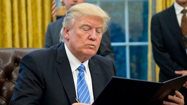 Трамп підписав указ про вихід з Транстихоокеанського партнерства