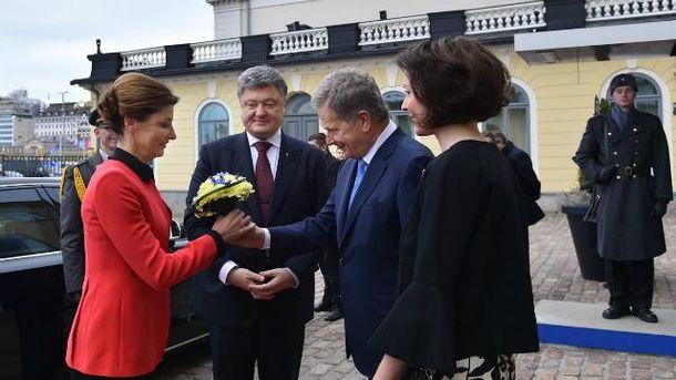 Это впервые за 11 лет президент Украины с официальным визитом в Финляндии