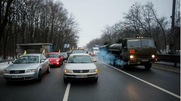 Активисты блокировали въезды в Киев