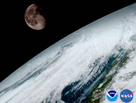 Снимок Земли GOES-16