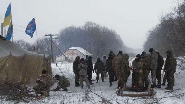 Заблокирована дорога на Луганщине