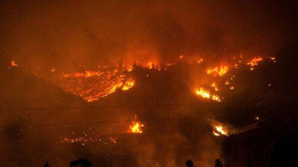 Пожежі в Чилі