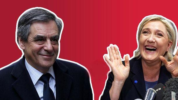 Франсуа Фійон та Марін Ле Пен