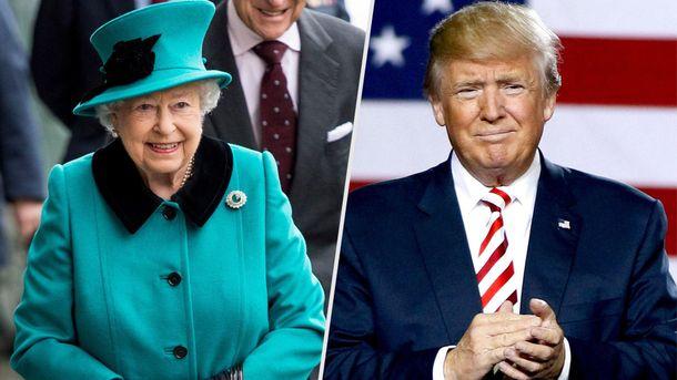 Трамп и королева Елизавета