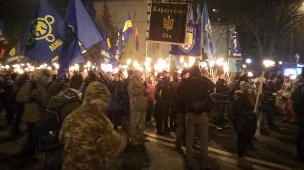 Смолоскипна хода у Києві