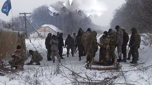 Блокирование железной дороги на Луганщине
