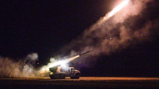 За ночь враг выпустил 160 снарядов