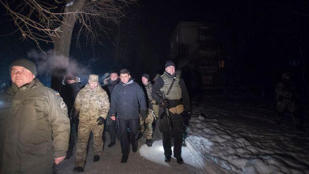 Премьер Владимир Гройсман в Авдеевке