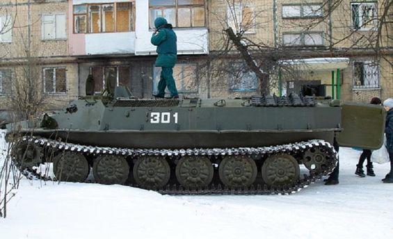 Российская техника в Донецке