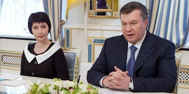 Олена Лукаш і Віктор Янукович