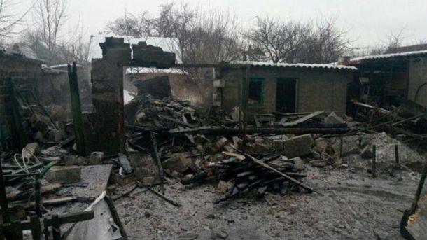 Разрушенный дом в Авдеевке