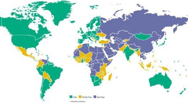 Україна зображена без Криму