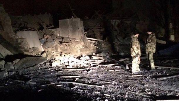 Наслідки вибуху у Донецьку